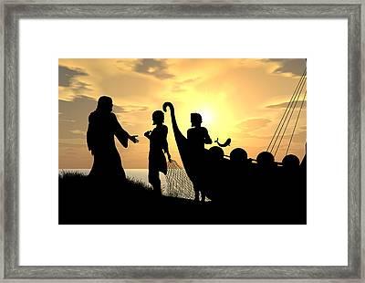 Fishers Of Men Framed Print by Kim Freitas