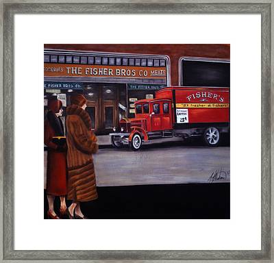 Fisher's Store Framed Print by Leah Wiedemer