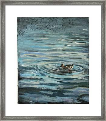 Fishin' Framed Print