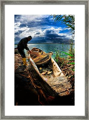 Fishing - 16 Framed Print by Okan YILMAZ