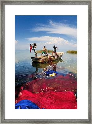 Fishing - 17 Framed Print by Okan YILMAZ