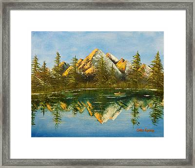 Fishing At Dusk Framed Print by Chris Fraser