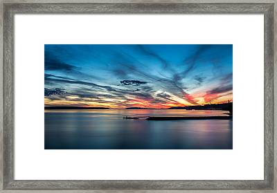 Fishing At Dusk Framed Print by Pierre Leclerc Photography