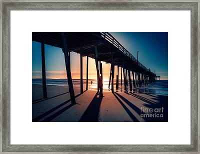 Fishing At Frisco Outer Banks Framed Print