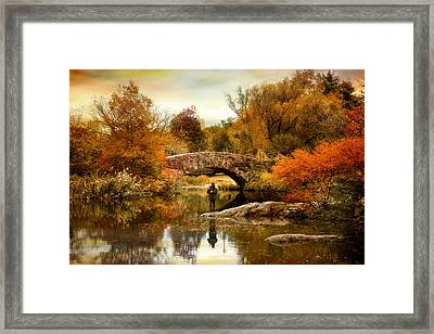 Fishing At Gapstow Framed Print by Jessica Jenney