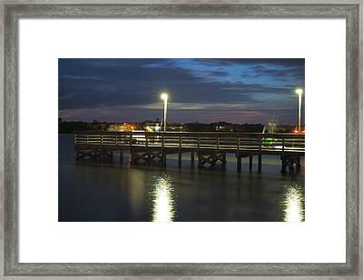 Fishing At Soundside Park In Surf City Framed Print by Mike McGlothlen