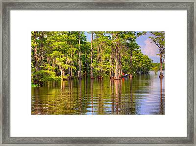 Fishing At The Bayou Framed Print