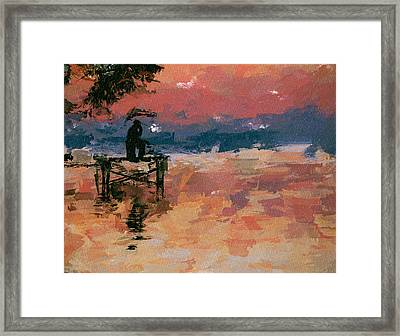 Fishing At The Dawn Framed Print by Yury Malkov