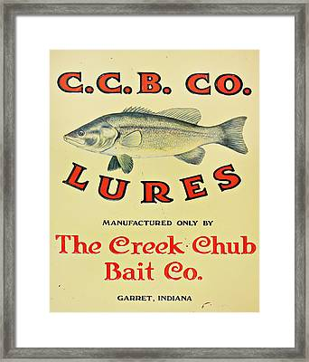 Fishing Bait Advertising Sign Framed Print by Randy Steele