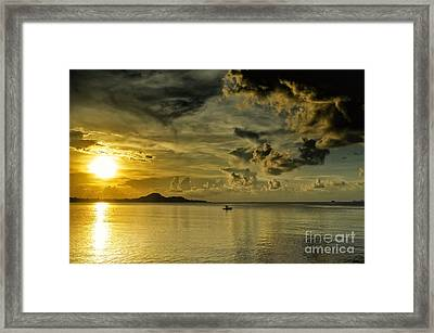 Fishing Before Dark Framed Print by Michelle Meenawong