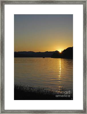 Framed Print featuring the photograph Fishing Boat At Twilight II by Susan Parish