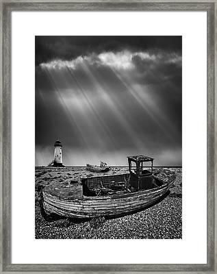 Fishing Boat Graveyard 11 Framed Print by Meirion Matthias
