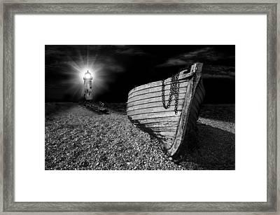 Fishing Boat Graveyard 5 Framed Print by Meirion Matthias