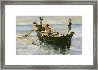 Fishing Boat Framed Print by Henri de Toulouse-Lautrec