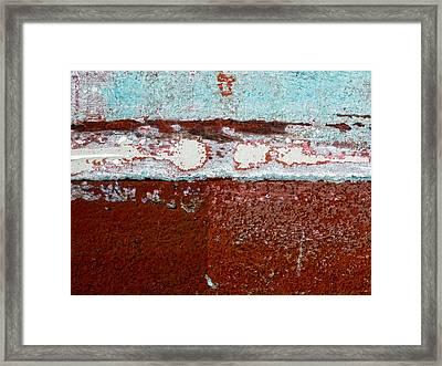 Fishing Boat Hull Framed Print by Carol Leigh