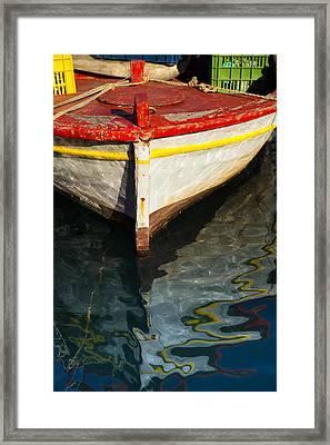 Fishing Boat In Greece Framed Print