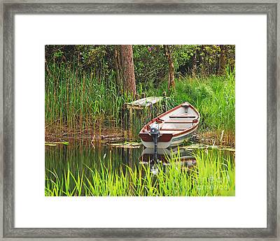 Framed Print featuring the photograph Fishing Boat by Mary Carol Story