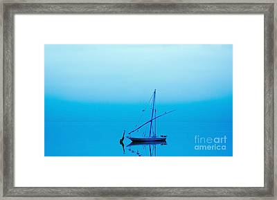 Framed Print featuring the photograph Fishing Boat  by Mohamed Elkhamisy