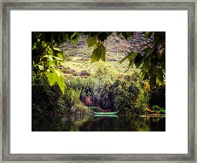 Fishing Boat On The River Douro Framed Print by Lynn Bolt