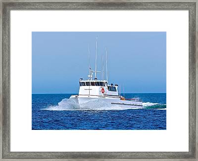 Fishing Boat Pacific Islander Framed Print by Liz Vernand
