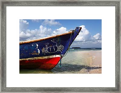 Fishing Boat Panama Framed Print by James Brunker