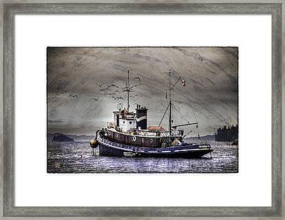 Fishing Boat Framed Print by Peter v Quenter