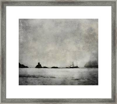 Fishing Boat Framed Print by Theresa Tahara