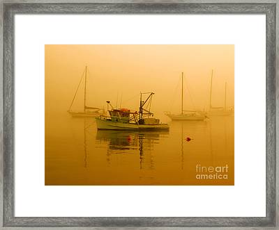 Framed Print featuring the photograph Fishing Boat by Trena Mara