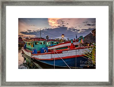Fishing Boat V2 Framed Print by Adrian Evans