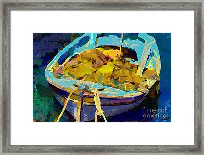 Fishing Boat With Nets Framed Print by Dragica  Micki Fortuna