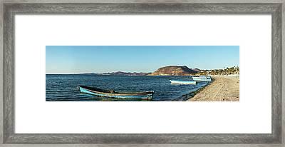 Fishing Boats At Beach, La Paz, Baja Framed Print