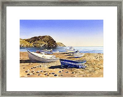 Fishing Boats At Las Negras Framed Print by Margaret Merry