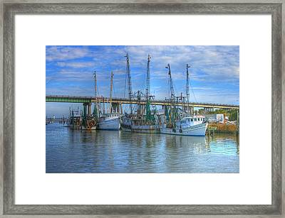 Fishing Boats At The Dock Framed Print