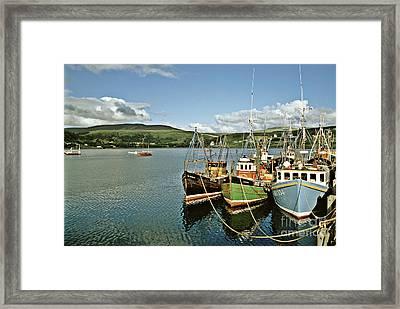 Fishing Boats At Uig Skye Scotland 1994 Framed Print by David Davies