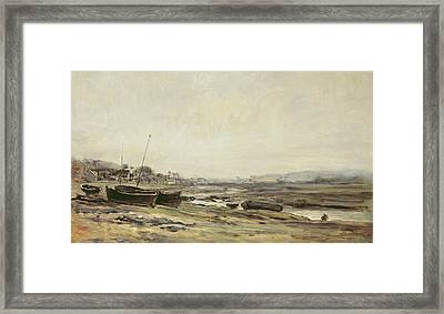 Fishing Boats Framed Print by Charles Francois Daubigny