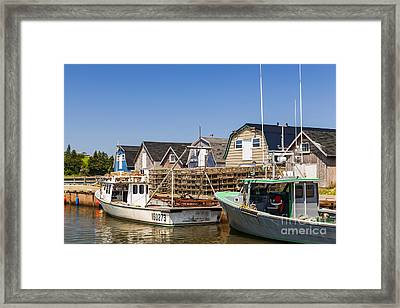 Fishing Boats Docked In Prince Edward Island  Framed Print by Elena Elisseeva