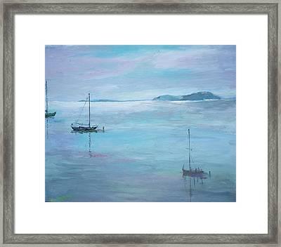 Fishing Boats Framed Print by Dorothy Herron