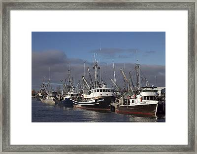 Fishing Boats Framed Print by Elvira Butler