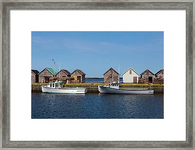 Fishing Boats Framed Print by Geoffrey Whiteway