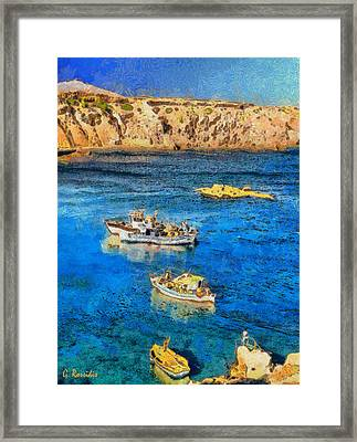 Fishing Boats Framed Print by George Rossidis
