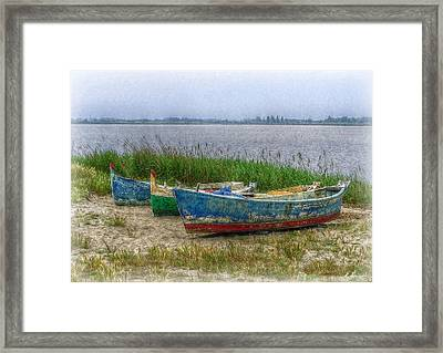 Framed Print featuring the photograph Fishing Boats by Hanny Heim