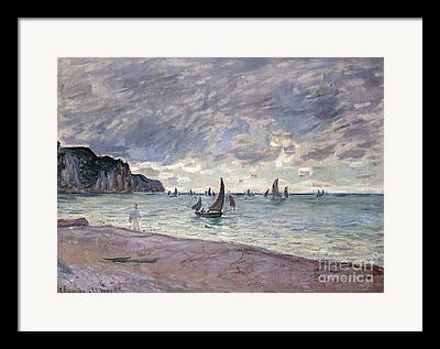 Boats In Harbor Paintings Framed Prints