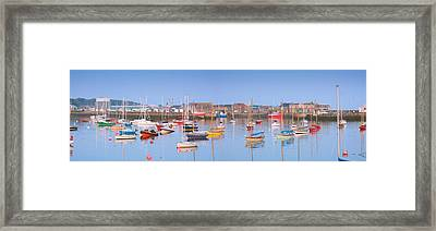 Fishing Boats In The Howth Marina Framed Print