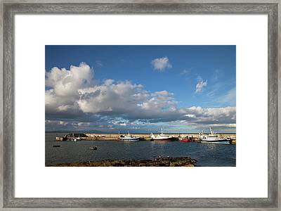 Fishing Boats Inthe Newly Renovated Framed Print