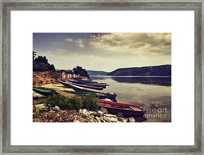 Fishing Boats  Framed Print by Jelena Jovanovic