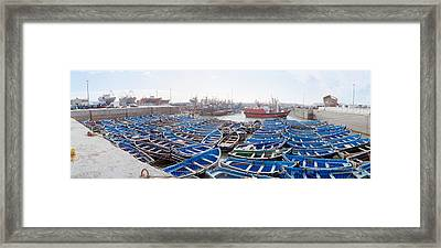 Fishing Boats Moored At A Dock Framed Print by Panoramic Images