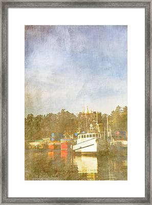 Fishing Boats Newport Oregon Framed Print by Carol Leigh