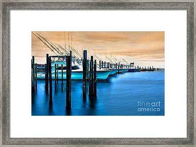 Fishing Boats On Glass I - Outer Banks Framed Print by Dan Carmichael