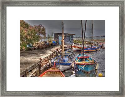 Fishing Boats Framed Print by Rod Jones