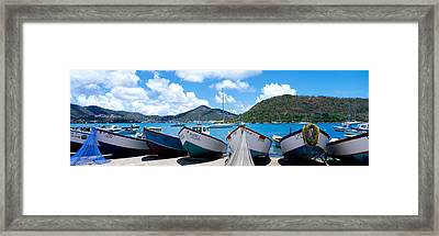 Fishing Boats St Thomas Us Virgin Framed Print by Panoramic Images